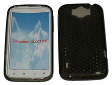 Pattern Gel Case Protector Cover Black For HTC Sensation XL X315E G21 Runnymede