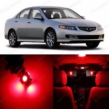 10 x Ultra Red LED Interior Light Package Kit For Acura TSX 2004 - 2008