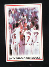 Cleveland Indians--1996 Pocket Schedule--Shell