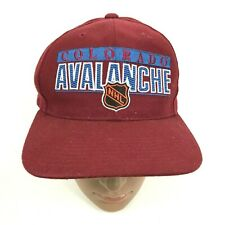 VINTAGE NHL Colorado Avalanche Hat Cap Snapback Maroon Red One Size Embroidered