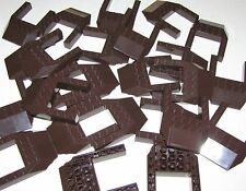 Lego Lot of 25 New Dark Brown Wedge 6 x 8 Cutout Pieces