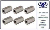 M6 (6MM 6mm) STAINLESS STEEL THREADED BAR STUDDING HEXAGON DEEP NUT CONNECTOR A2
