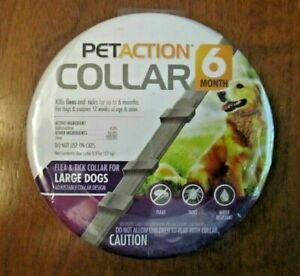 PetAction Flea & Tick Collar for Large Dogs. Good for 6 Months.