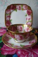 Vintage Royal Albert Crown China Trio Tea Cup Saucer Plate English Rose Gilded