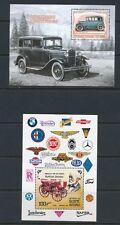 CLASSIC CARS (4) SOUVENIR SHEETS: GAMBIA (2), GUINE BISSAU & TOGO; MNH
