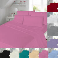 Extra Deep Flannelette Thermal Fitted Flat Bed Sheet Brushed Cotton King Single