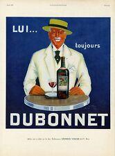 """""""DUBONNET"""" Annonce originale entoilée L'ILLUSTRATION Avril 1925 (Jean CARLU)"""