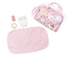 Baby Annabell Doll Zip Top Carry Handles and Strap Changing Bag Set - Pink