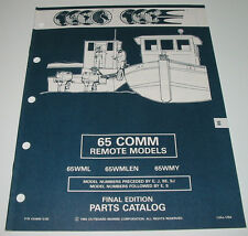 Parts Catalog Outboard Marine Evinrude Johnson 65 COMM Remote Models WML WMLEN!