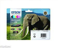 SET OF 6 CARTRIDGES EPSON T2428 24 GENUINE Expression  XP-750  XP-850 ELEPHANT