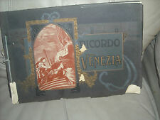 """Ricordo Venezia,  souvenior book from Venice, 36 pictures  SC about 15"""" X 9"""""""