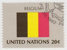 (UN175) 1982 United Nations 20c Belgian Flags ow397