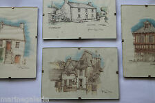 Maisons de Bretagne Quimper Locronan dessins croquis miniatures d'architecte BE