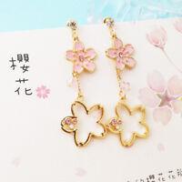 Japanese Cute Lolita Pendant Earrings Moe Kawaii Harajuku Sweet Sakura  #X14