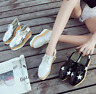Women's Stylish Leather High end Platform Wedge Sneakers Lace Casual New Shoes