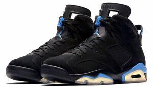 Air Jordan 6 Retro 'UNC' Black/University Blue 384664-006 Size 10 NEW