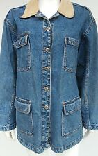 BILL BLASS Mens Medium M Blue Denim Jean Jacket Trucker All Categories Coat