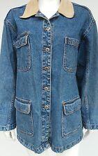 BILL BLASS Mens Medium M Blue Denim Jean Jacket Trucker All Categories Coat