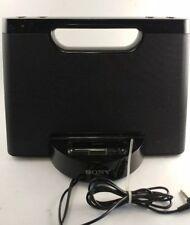 RDPM5IP Sony 30-Pin Portable Speaker iPod Dock Black