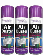 More details for 3 x compressed air duster spray can cleans protects laptops keyboards  200ml