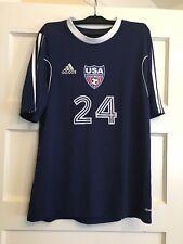 USA Maccabi Team Adidas soccer jersey Mens Medium Navy blue Israel - RARE