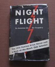 Night Flight by Antoine de Saint-Exupery - 1st printing Hcdj 1932 - $1.75