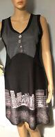 C Fait Pour Vous Womens Pencil Dress Approx Size 10 (1) Black Pink Grey BNWT