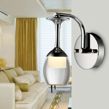 K9 Crystal Lamp 7W LED Wall Fixture Light Wine Glass Lampshade Living Room Hotel