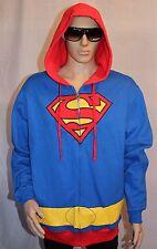 Superman Zip-Up Hoodie DC Comics Men's XL Halloween Costume Cosplay