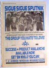 SIGUE SIGUE SPUTNIK 1988 original POSTER ADVERT SUCCESS
