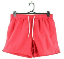 H&M H and M Mens Shorts Red M Running Sport Gym Stretch Summer Casual Beach Men