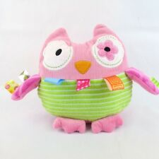 Mary Meyer Taggies Oodless Owl 8-Inch Plush Baby Tactile Visual Stimulation Toy