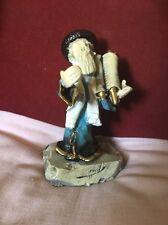 Judicea/Jewish Interest Quirky Signed Ceramic Figure Of Rabbi Holding The Torah