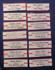Lot of 15 Jukebox Tags 45 RPM Title Strips  BANGLES  HEART & More  #15-1