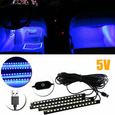 """4pcs Blue 12-LED Lighting Strip For Car Interior Decoration 8"""" Styling Ambient"""