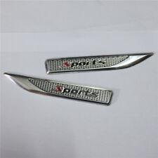 1 Pair of Sports Small Aluminum Alloy Sticker Badge Emblem Racing Engine Turbo 3