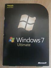 Microsoft Windows 7 Ultimate UPGRADE UK 32/64-bit Versions DVD