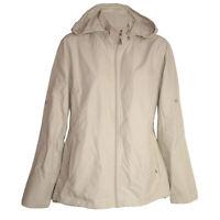 hochwertige leichte Outdoor-Jacke Funktionsjacke Windbreaker Kapuze beige Gr.40