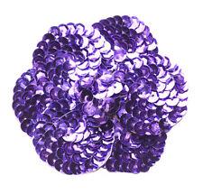 Eyecatching & Glamorous Purple Sequin Flower & Easy Pin Brooch(B4/Zx89)