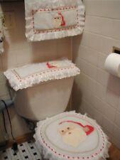3-PIECE TOILET SEAT COVER SET AND TOWEL CHRISTMAS SANTA BATHROOM SET