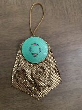 New listing Antique Victorian Mayfair by Evans Gold Mesh Purse with Guilloche Enamel Compact
