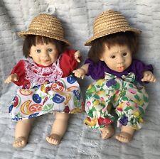 Vintage 2 Gi-Go Toy Expression Dolls My Palm Pals Boy& Girl Pellet Filled Vinyl