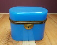 Antique French Opaline Glass Lidded Box/Casket | Trinket/Sugar | 19thC