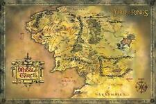 LORD OF THE RINGS MIDDLE EARTH MAP POSTER (61x91cm)  PICTURE PRINT NEW ART