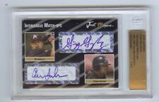 GIO GONZALEZ - CONOR JACKSON 2005 BECKETT SLABBED Dual Autograph RC 2/2