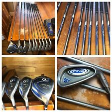 Ping G5 Orange Dot Golf Set Irons (4-PW) & 3 Woods - TFC 100 Soft Regular Shafts