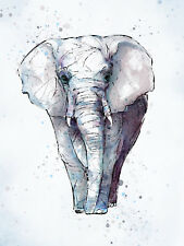 PAINTING DIGITAL EVRY AFRICAN ELEPHANT WALL ART PRINT PICTURE POSTER HP2686