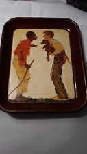 1976 River Shore Productions Norman Rockwell Tray. #2711 of 5000