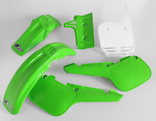 Kawasaki KX 60 1984 - 2004 Motocross MX UFO Full Plastic Kit Green White OEM