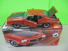 1972 PONTIAC GTO RESTOMOD GMP STREET FIGHTER #0655 OF 750 G1801214 HARDTOP 1:18